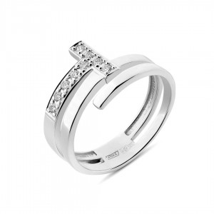 Кольцо (белое золото)